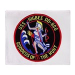 USS HIGBEE Throw Blanket