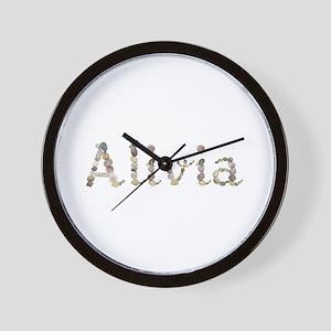 Alivia Seashells Wall Clock
