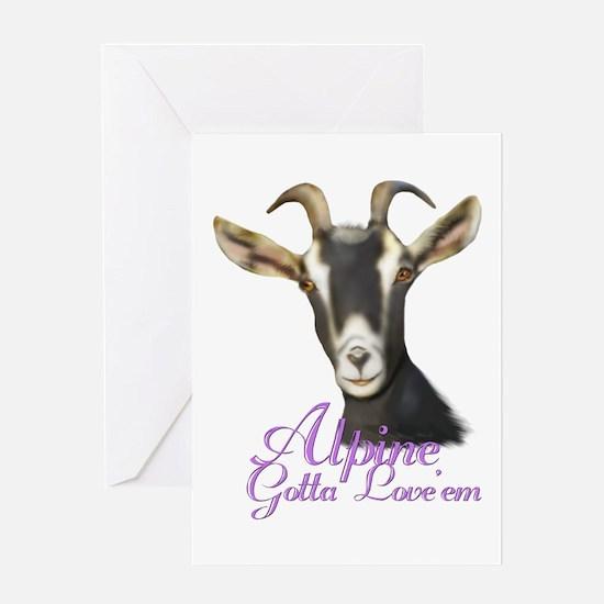 Alpine Goat Gotta Love'em Greeting Card