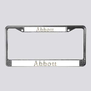 Abbott Seashells License Plate Frame