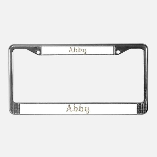 Abby Seashells License Plate Frame