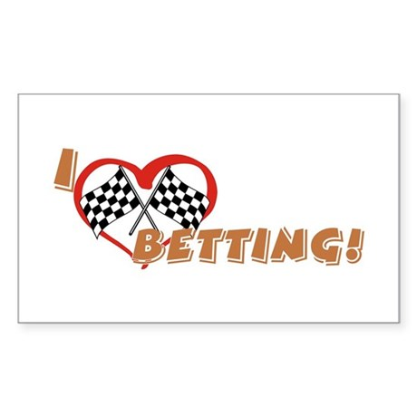 Betting Rectangle Sticker