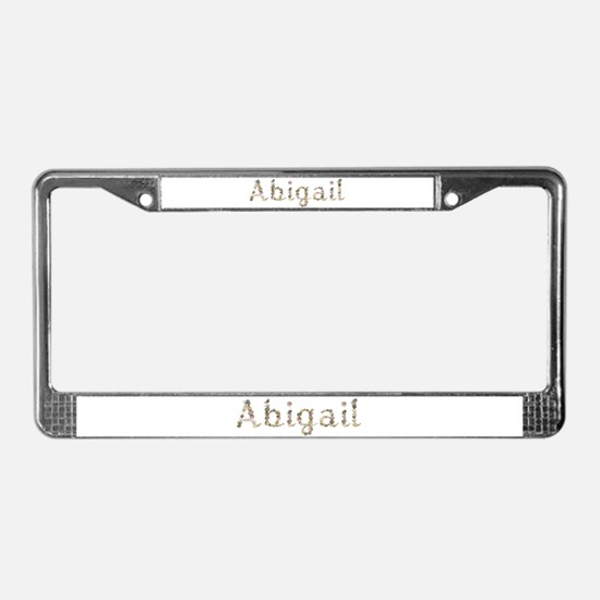Abigail Seashells License Plate Frame