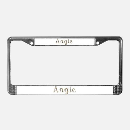 Angie Seashells License Plate Frame
