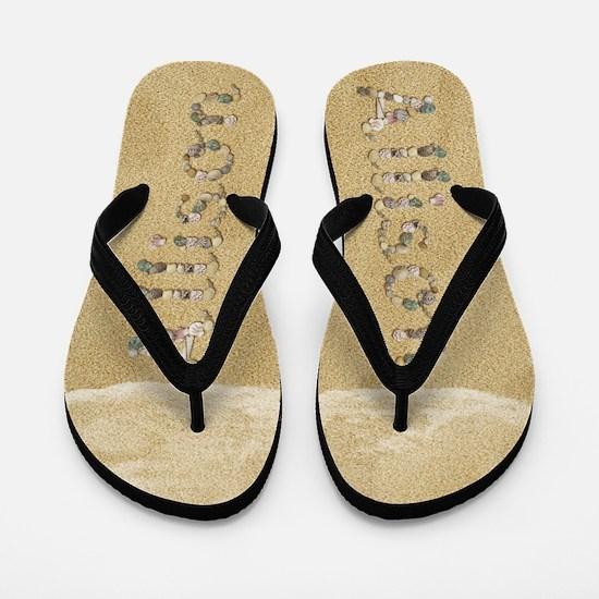 Allison Seashells Flip Flops