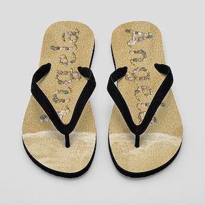 Angela Seashells Flip Flops