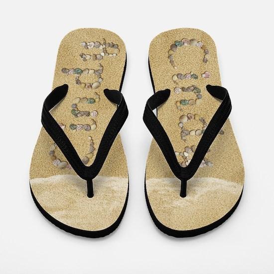 Cindy Seashells Flip Flops