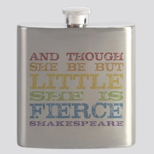 Thought She Be But Little She Be Fierce Flask