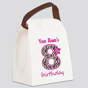 8th Birthday - Personalized Canvas Lunch Bag