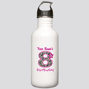 8th Birthday - Personalized Water Bottle