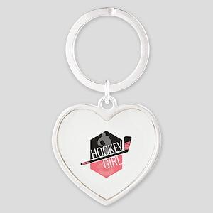 hckygirl Heart Keychain