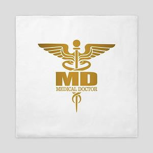 Gold Caduceus MD Queen Duvet