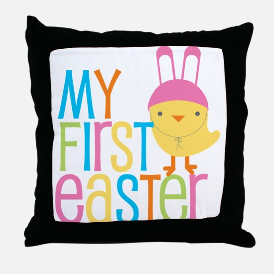 My First Easter Throw Pillow