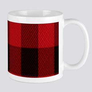 red black plaid Mugs