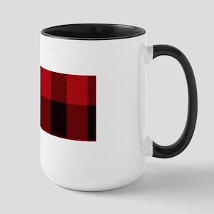red black plaid Mugs