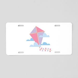 Kite in Clouds Aluminum License Plate