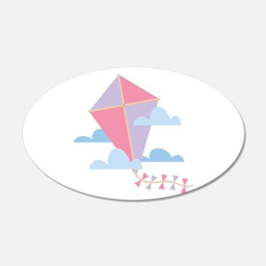 Kite in Clouds Wall Decal