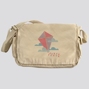 Kite in Clouds Messenger Bag