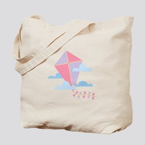 Kite in Clouds Tote Bag