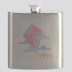 Kite in Clouds Flask