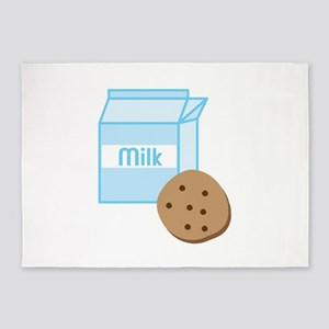 Cookie & Milk 5'x7'Area Rug