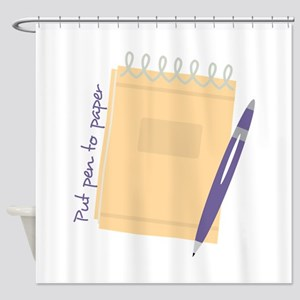 Pen to Paper Shower Curtain
