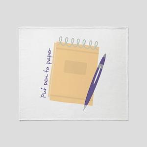 Pen to Paper Throw Blanket