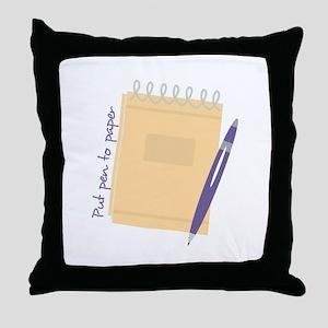 Pen to Paper Throw Pillow