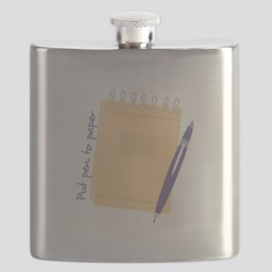 Pen to Paper Flask