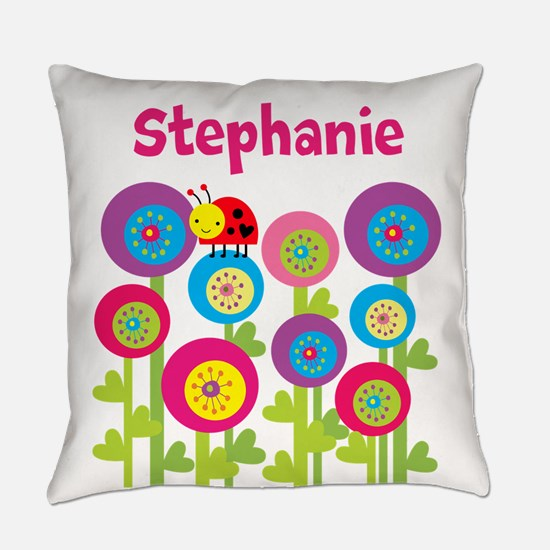 Ladybug Garden Everyday Pillow