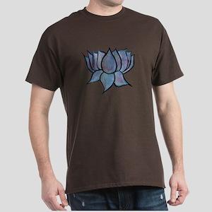 Blue Lotus Flower Men's Dark T-Shirt