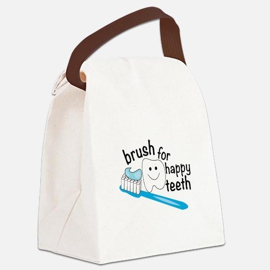 Happy Teeth Canvas Lunch Bag