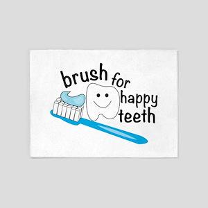 Happy Teeth 5'x7'Area Rug