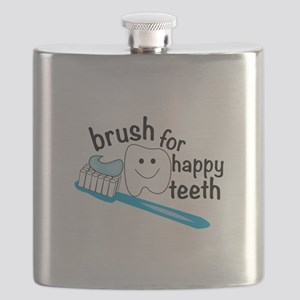 Happy Teeth Flask