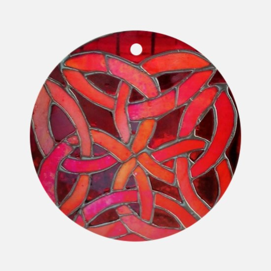 Red Celtic Knot Round Ornament