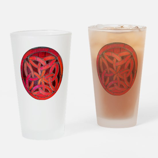 Red Celtic Knot Drinking Glass