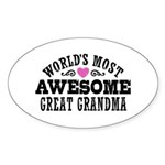 Great Grandma Sticker (Oval)