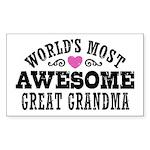 Great Grandma Sticker (Rectangle)