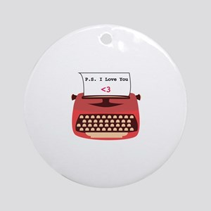 I Love You Ornament (Round)