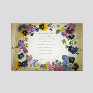 Pressed Flowers Rectangle Magnet