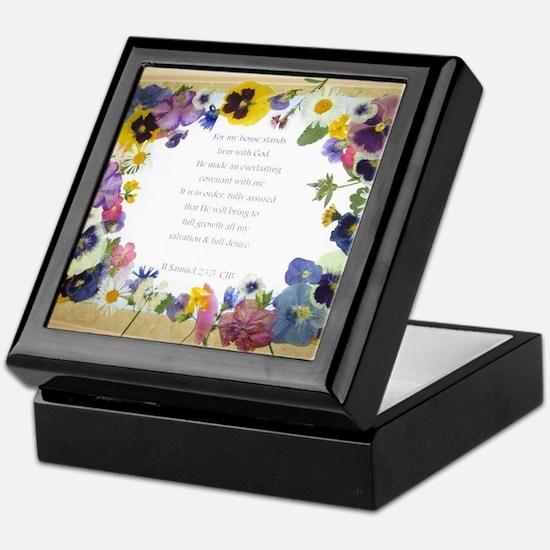Pressed Flowers Keepsake Box