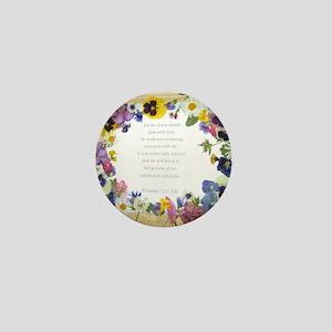 Pressed Flowers Mini Button