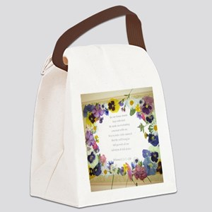 Pressed Flowers Canvas Lunch Bag