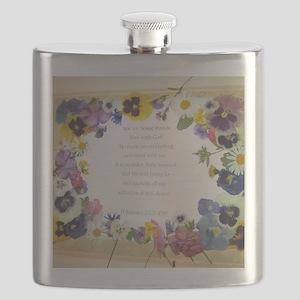 Pressed Flowers Flask