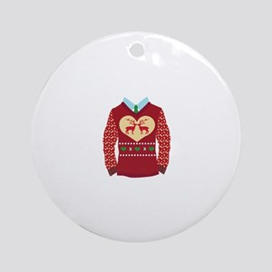 Christmas Sweater Ornament (Round)