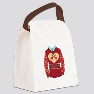 Christmas Sweater Canvas Lunch Bag