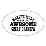 Great Grandpa Sticker (Oval)