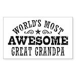 Great Grandpa Sticker (Rectangle)