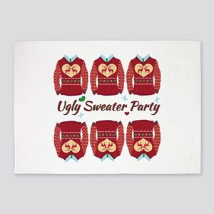Ugly Sweater Party 5'x7'Area Rug