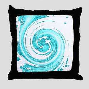 Sea Foam Spiral Throw Pillow